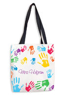 Colorful Hands Tote Bag