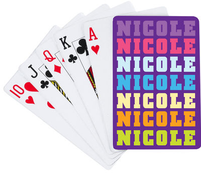 Name in Brights Girl Playing Cards