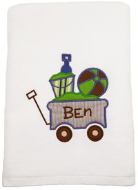 Beach Wagon Embroidered and Applique Beach Towel