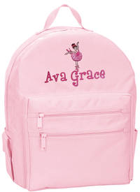 Ballerina Embroidered Backpack