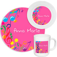 Bright Notes Melamine Set