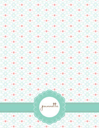 Abstract Floral Large Notepad