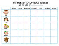 Custom Weekly Schedule Pad CWSP