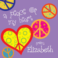 Crazy Peace Valentine's Stickers