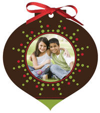 Holiday Burst Ornament Card