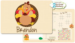 Turkey Gobble Dry Erase Placemat
