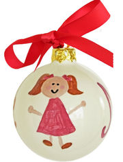 Little Girl Pink Ornament SLLG