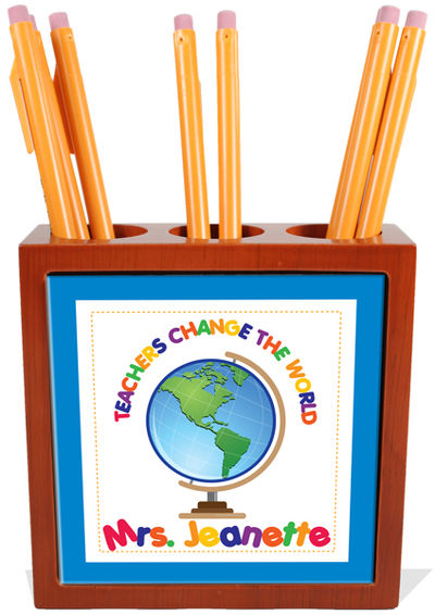 Teachers Change The World Pencil Holder Pen Holder