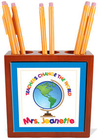 Teachers Change the World Pencil and Pen Holder