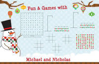 Mr. Snowman Games Paper Placemats