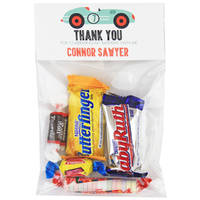 Green Race Car Birthday Party Candy Bag Favors