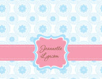 Blue Ornament Foldover Card