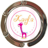 Pinky Giraffe Purse Hook