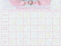 Heart Ribbon Slide Chore Chart