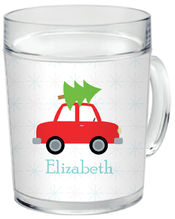 Christmas Tree Tow Clear Acrylic Mug