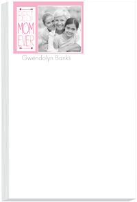 Best Mom Banner Photo Note Pad