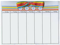 Rainbow Stripes Bow Calendar