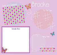 Pink Butterfly Games Writing Board