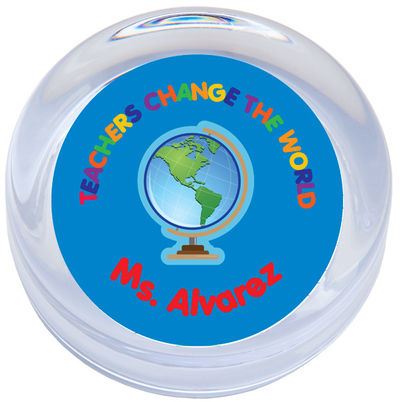 Teachers Change the World Paperweight