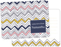 Navy Scribble Chevron Camp Fill-in Card