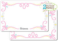 Fancy Flourish Dry Erase Placemat