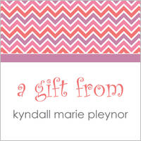 Pink Chevron Gift Stickers