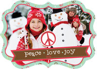 Banner Peace Die-Cut Card