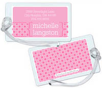 Bubblegum Dots Luggage Tag