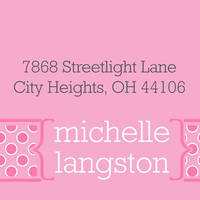 Bubblegum Dots Return Address Label