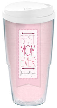 Best Mom Banner Acrylic Travel Cup