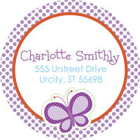Dotted Butterfly Address Label