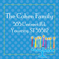 Abstract Menorah Return Address Label