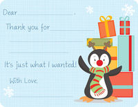 Red Nose Penguin Fill-in Card