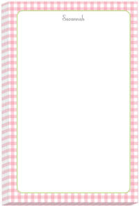 Pink Gingham Too Note Pad