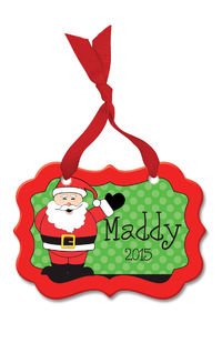Cheerful Santa Acrylic Ornament