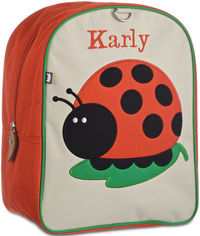 Ladybug Small Embroidered Backpack