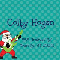 Rockin' Santa Return Address Label