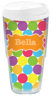 Bright Dots Acrylic Travel Cup