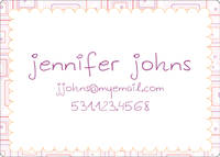 Abstract Lavender Calling Card