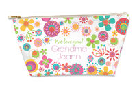 Mod Flower Frame Small Gusseted Pouch