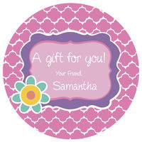Purple Frame Gift Stickers