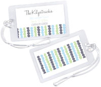 Connected Slate Dots Luggage Tag