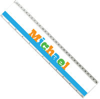 Comic Letters Acrylic Ruler