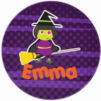 Broomstick Witch Plate