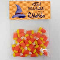 Purple Witch Hat Candy Bag Toppers