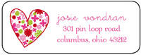 Heart Wallpaper Label LBL-S27