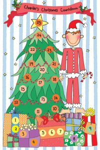 Holiday Boy Countdown Calendar & Placemat H-CCPM