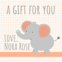 Peachy Elephant Gift Stickers