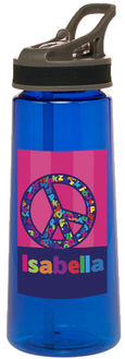 Alphabet Peace Water Bottle