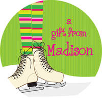 Ice Skates Too Gift Stickers
